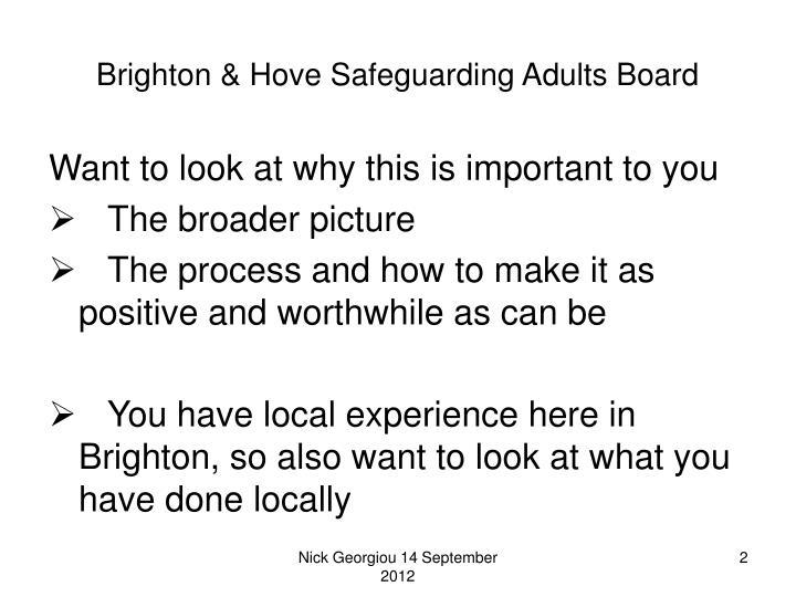 Brighton hove safeguarding adults board1