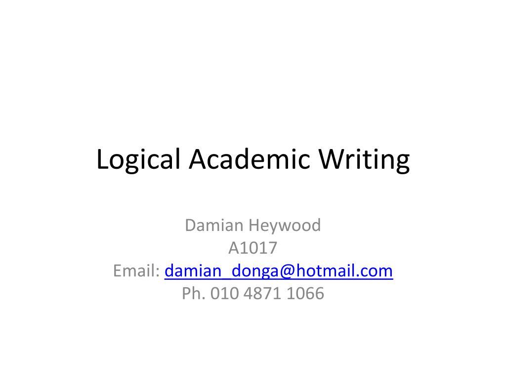 academic writing ppt