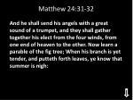 matthew 24 31 32