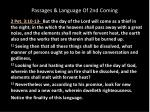 passages language of 2nd coming