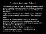 prophetic language defined