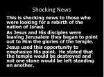 shocking news