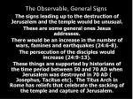 the observable general signs