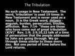 the tribulation