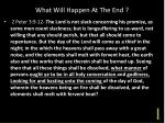 what will happen at the end