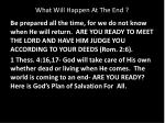 what will happen at the end1