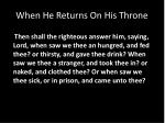 when he returns on his throne2