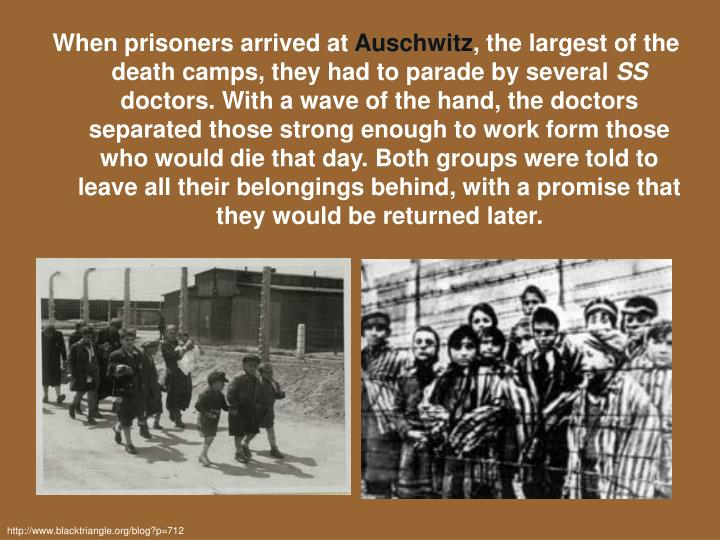 When prisoners arrived at