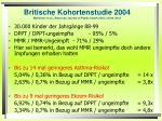 britische kohortenstudie 2004 mckeever et al american journal of public health 2004 vol 94 no 6