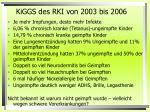 kiggs des rki von 2003 bis 20061