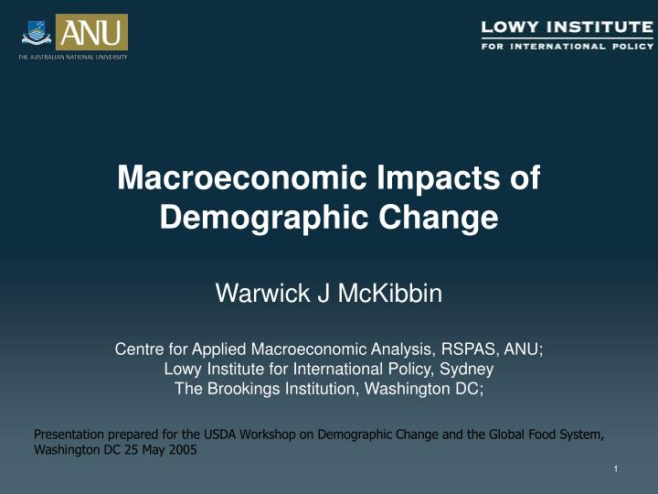 macroeconomic impacts of demographic change n.