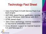 technology fact sheet