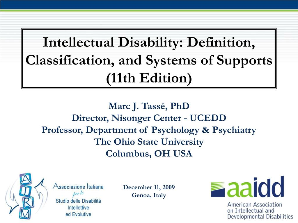 ppt - intellectual disability: definition, classification, and