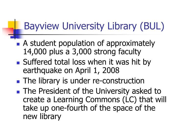 Bayview university library bul