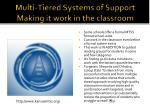 multi tiered systems of support making it work in the classroom