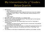 my interventions for 3 rd graders below quartile