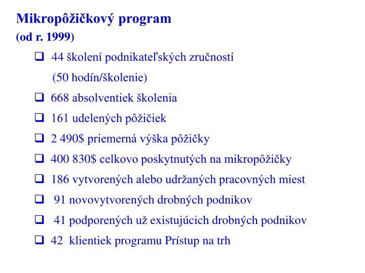 Mikropôžičkový program