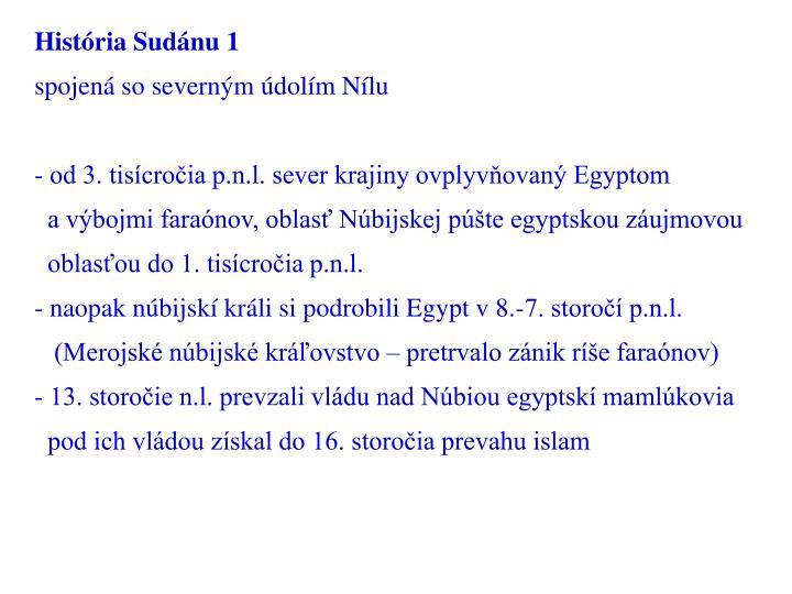 História Sudánu 1