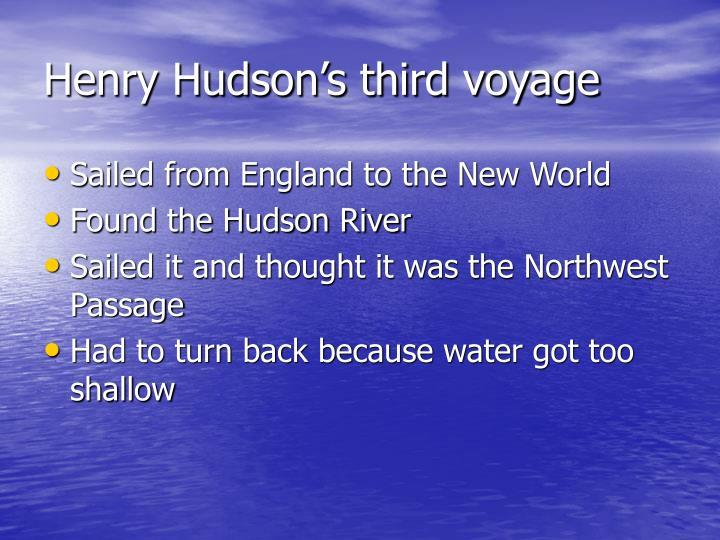 Henry Hudson's third voyage