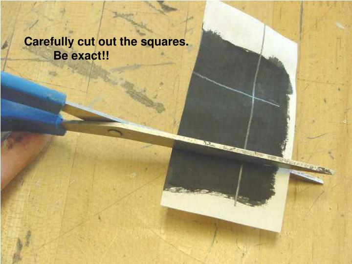Carefully cut out the squares.