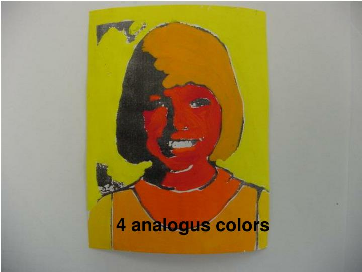 4 analogus colors
