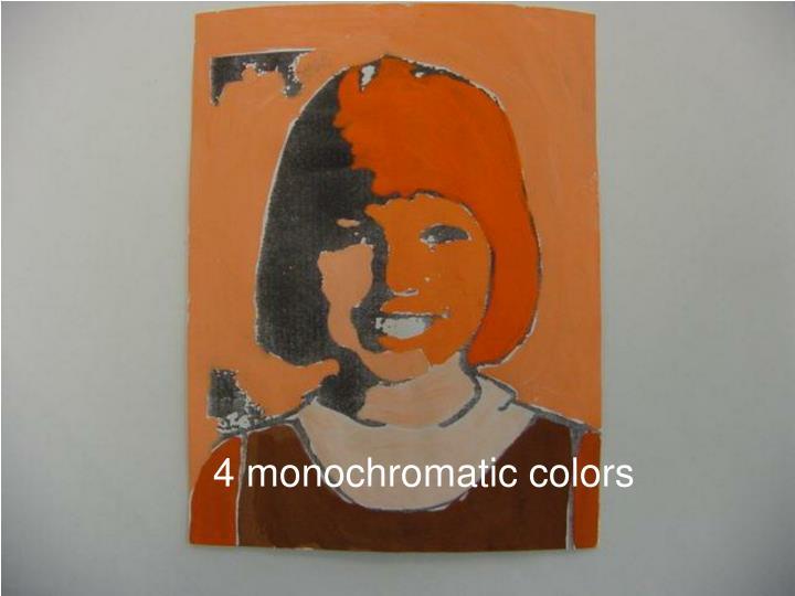 4 monochromatic colors