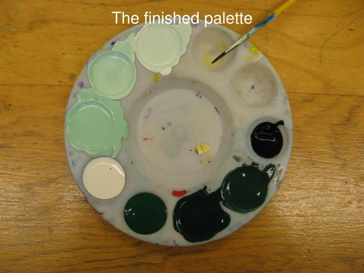 The finished palette