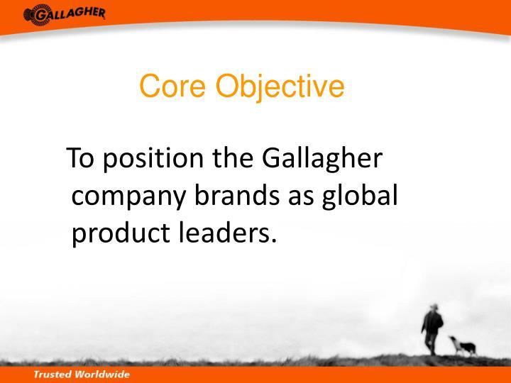 Core Objective