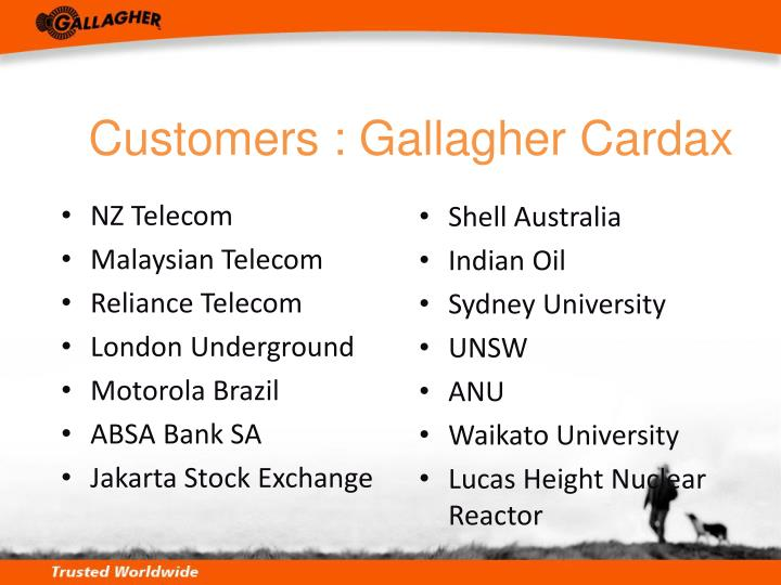 Customers : Gallagher