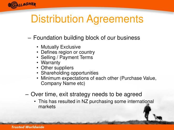 Distribution Agreements