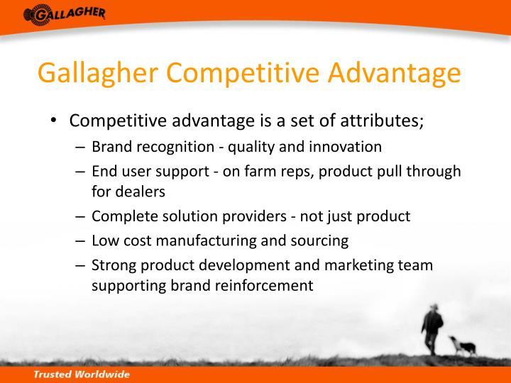 Gallagher Competitive Advantage