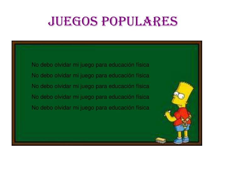 Ppt Juegos Populares Powerpoint Presentation Free Download Id 5099236