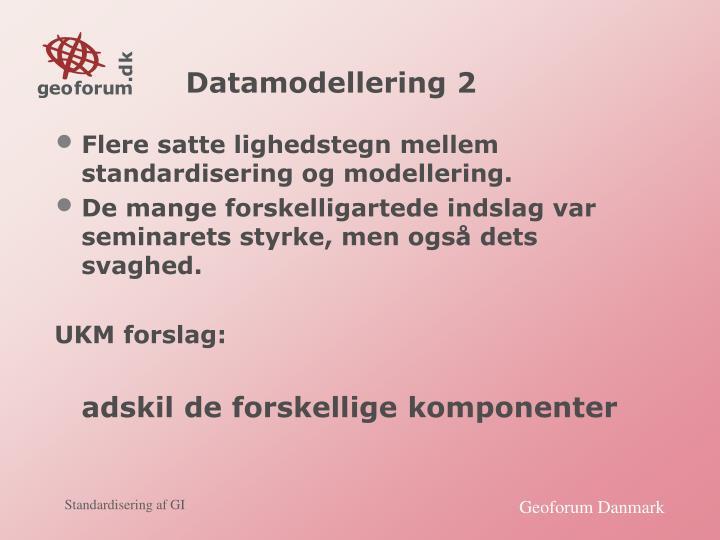 Datamodellering 2
