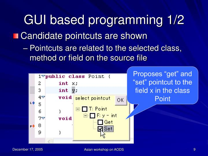 GUI based programming 1/2