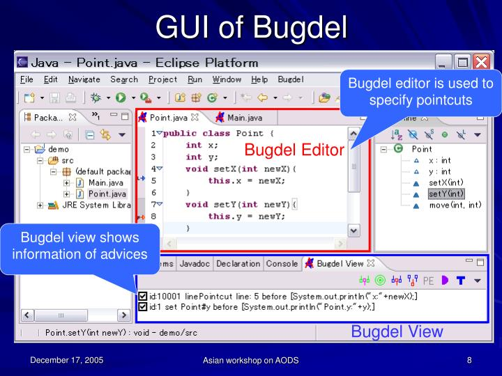 GUI of Bugdel