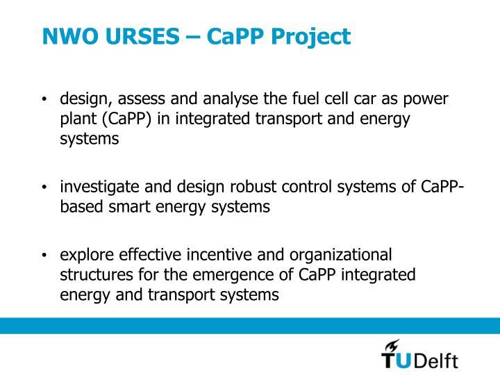 NWO URSES – CaPP Project