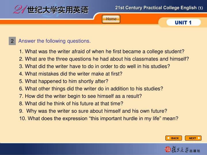 Understandling-Answer