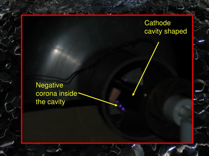Cathode cavity shaped