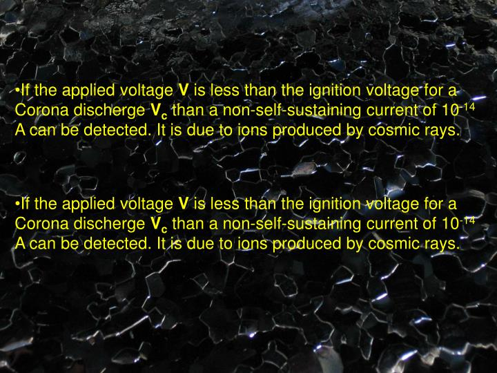 If the applied voltage