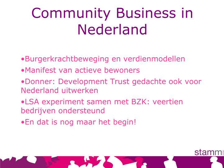 Community Business in Nederland
