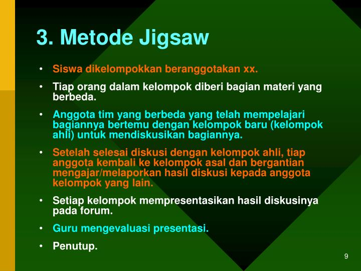 3. Metode Jigsaw