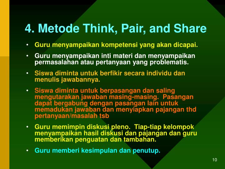4. Metode Think, Pair, and Share