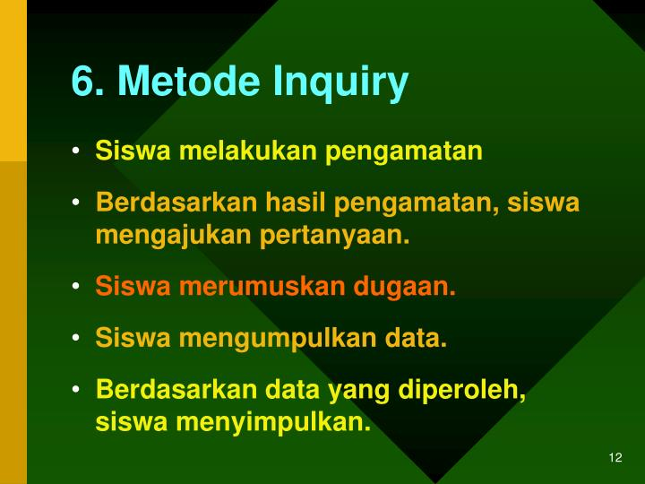 6. Metode Inquiry