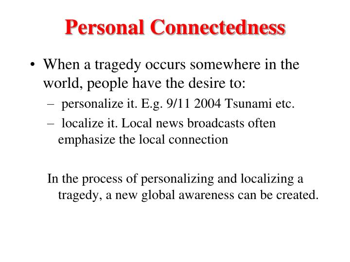 Personal Connectedness