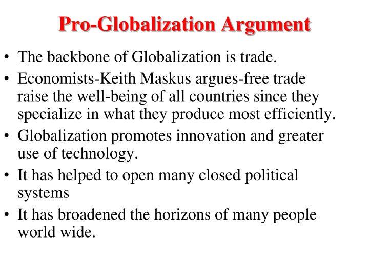 Pro-Globalization Argument