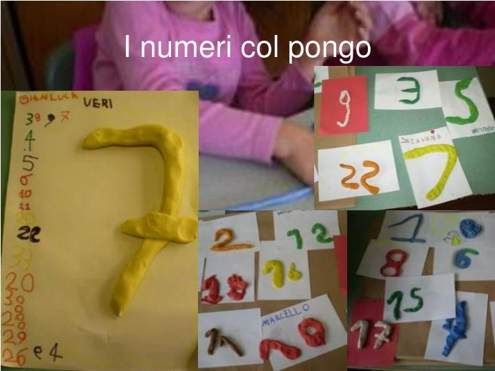 I numeri col pongo