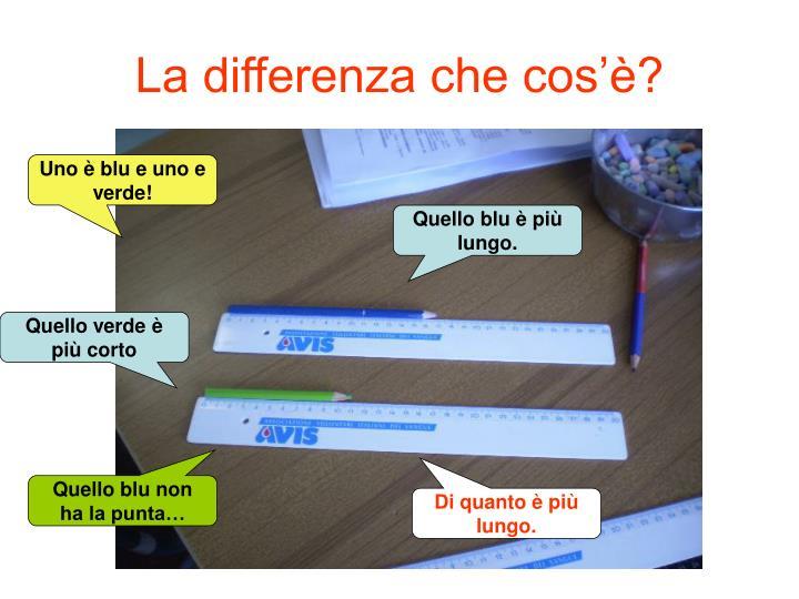 La differenza che cos'è?