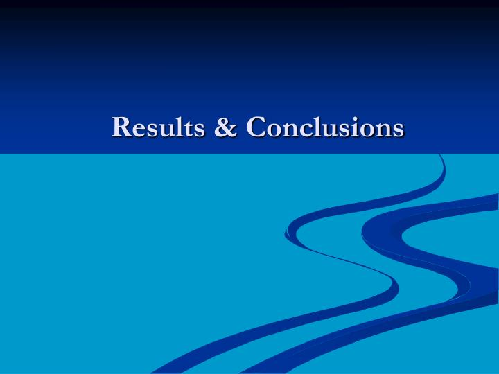 Results & Conclusions