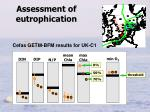 assessment of eutrophication
