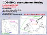 icg emo use common forcing